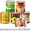 Set of canned foods 46138949