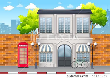 Urban street day time scene 46138979