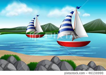 Sailing boats in the sea 46138990