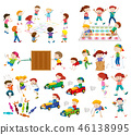 Set of children playing 46138995