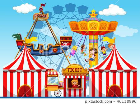 Fun fair raide background 46138996
