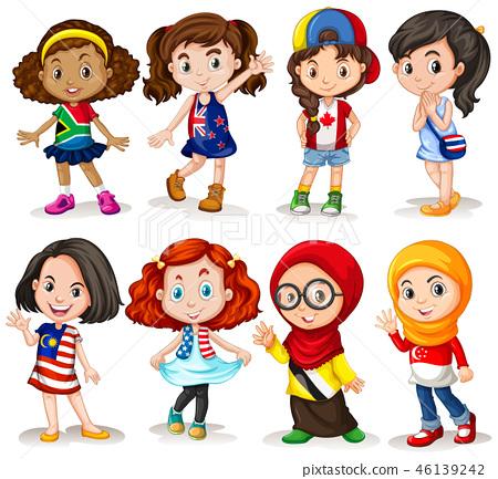 Set of international girl 46139242