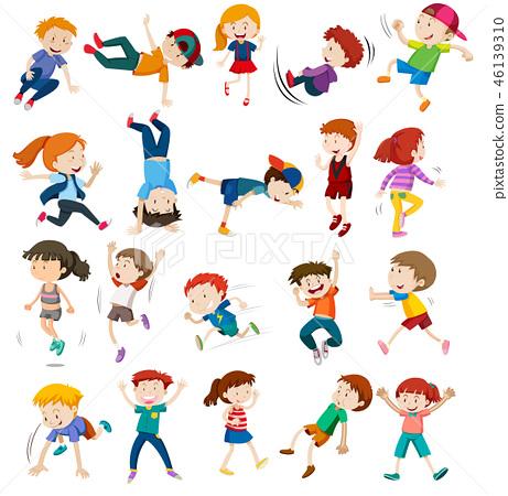 Set of urban children character 46139310