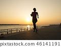 奔跑 少女 海邊 46141191