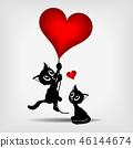 บอลลูน,หัวใจ,ลูกแมว 46144674