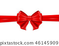 Red ribbon bow wrapping 46145909