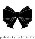 Black bow. Flat icon 46145912
