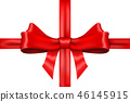 Red ribbon bow wrapping 46145915