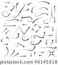 Arrows. Hand written filigree set 46145918
