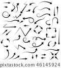 Arrows. Hand written filigree set 46145924