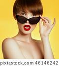 Beautiful girl. Beauty model. Fashion makeup. Body 46146242