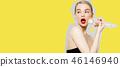 Joyful girl. Beauty, fashion model, Makeup. Body 46146940