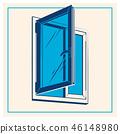 Vector plastic window icon 46148980