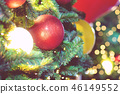 Closeup of bauble colorful variety hanging  46149552