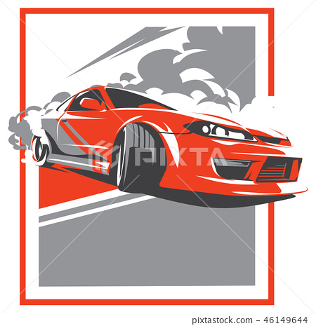 Burnout car, Japanese drift sport, JDM, 46149644