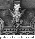 TURIN, ITALY - Dragon on Victory Palace facade 46149868