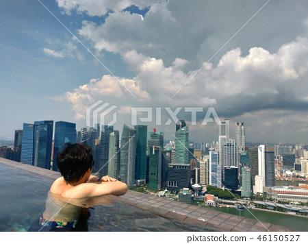 싱가포르 마리나 베이 샌즈 인피니티 풀 일본인 남성 Singapore 46150527