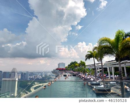 新加坡濱海灣金沙無邊泳池遊客新加坡游泳池 46150528