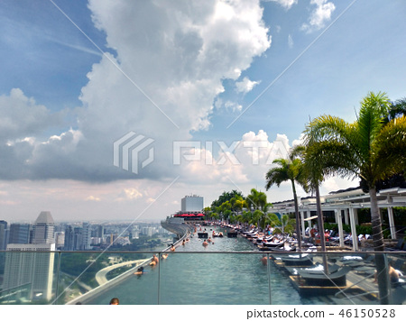 Singapore Marina Bay Sands Infinity Pool Tourists Singapore Pool 46150528