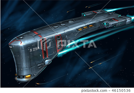 Concept Art Painting of Space Ship 46150536