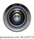 Highly detailed video or photo camera lens 46150574