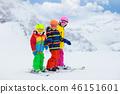 滑雪 孩子 小孩 46151601
