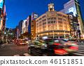 """Tokyo"" Ginza night view, pedestrian heaven 46151851"