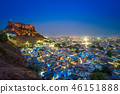night scene of jodhpur in rajasthan, india 46151888