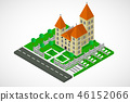Isometric church building, vector 46152066