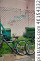 길거리의 풍경 자전거 울타리 휴지통 Street corner Bicycle 46154332