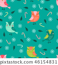 christmas pattern funny owls 46154831
