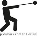 hammer, throw, athlete 46156149
