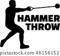 hammer, throw, athlete 46156152
