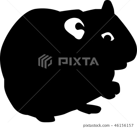 Hamster silhouette 46156157