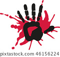 Handprint with blood 46156224