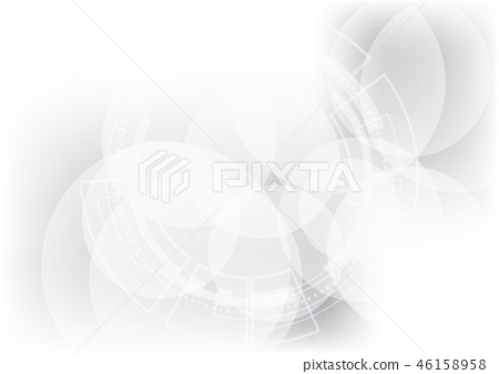Abstract technology geometric white background 46158958