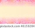 櫻花花新年卡片背景 46159284