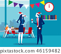 Business people celebrate merry Christmas  46159482