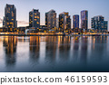 Docklands waterfront area in Melbourne, Australia. 46159593
