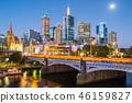 Beautiful view of Melbourne city, Australia. 46159827