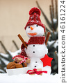 Snowman with gift for Christmas or Valentine 46161224