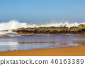 Waves of surf stormy Atlantic near Safi 46163389