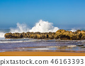 Waves of surf stormy Atlantic near Safi 46163393