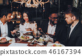 Business People Dinner Meeting Restaurant Concept 46167394