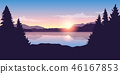 lake, sunrise, landscape 46167853