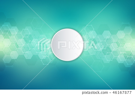 Geometric background texture with molecular structures and chemical engineering. Abstract background 46167877