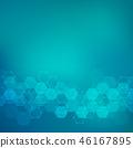 hexagon, background, molecule 46167895