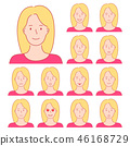 face expressions woman 46168729