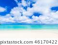 夏天圖像海,海灘,藍天關島 46170422