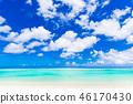 夏天圖像海,海灘,藍天關島 46170430